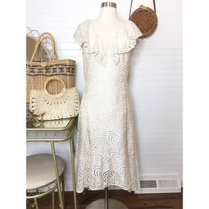 NWT Reba Ivory Cream Eyelet Dress